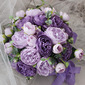 Elegant Rund Silke blomst Brude Buketter - Brude Buketter