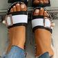 Kvinner PVC Flat Hæl Tøfler med Spenne sko