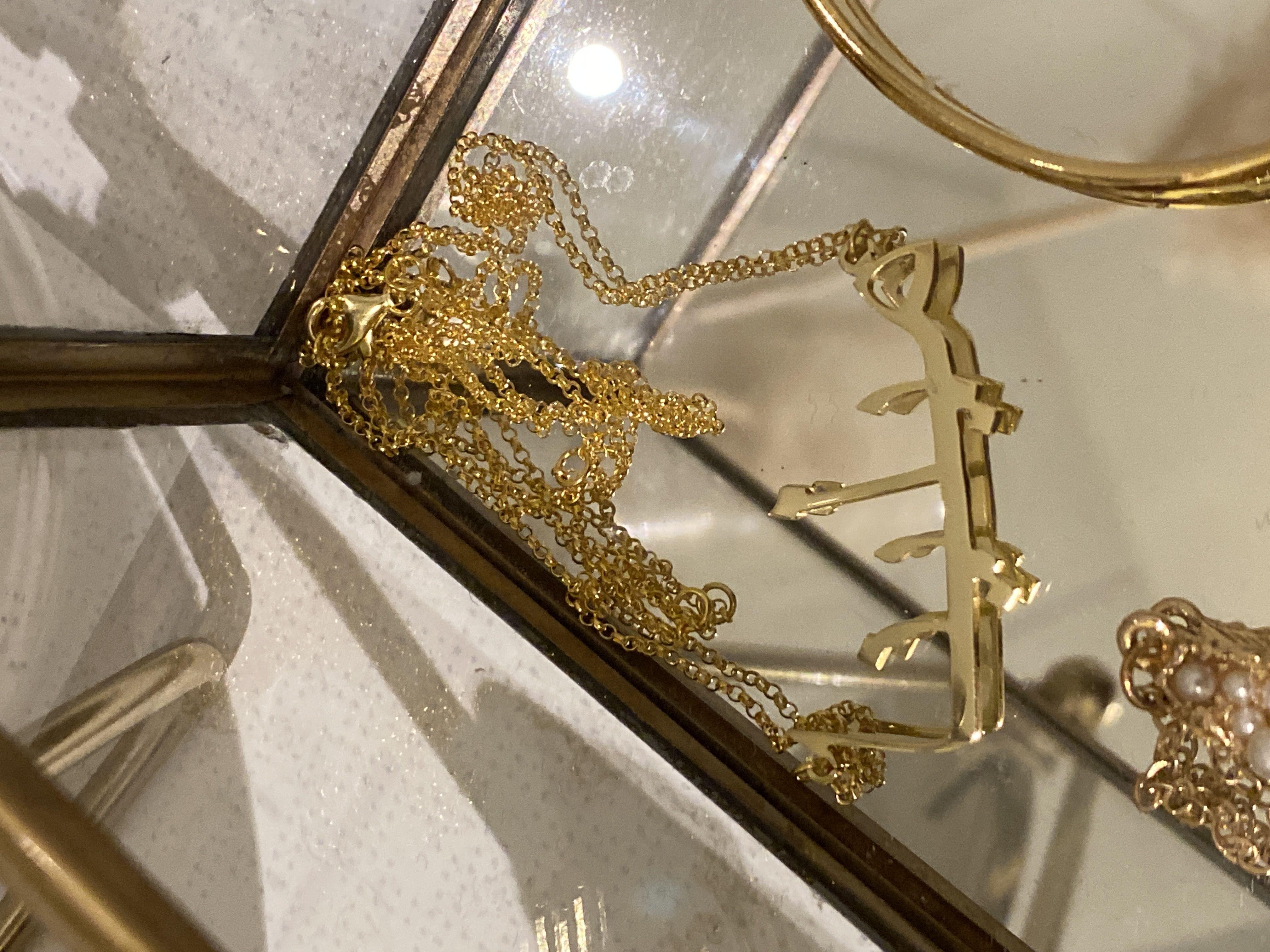 [Darmowa Dostawa]Spersonalizowany 18-karatowe pozłacane srebro Imię Naszyjnik Arabskie naszyjniki - Prezenty Urodzinowe